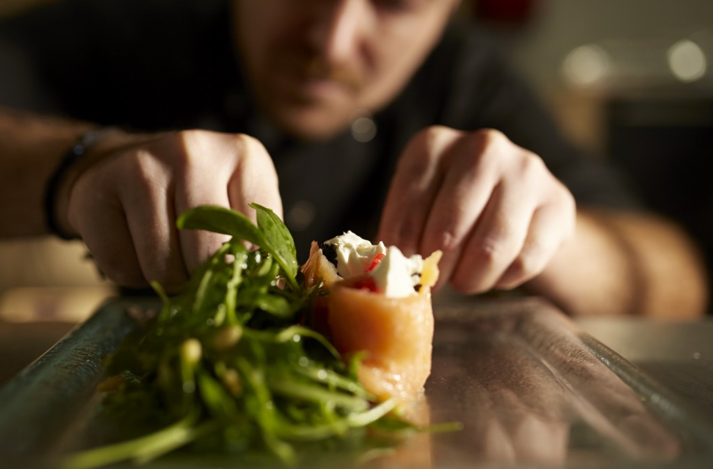 The chef of Ira Hotel & Spa creates dishes inspired by the Mediterranean cuisine.