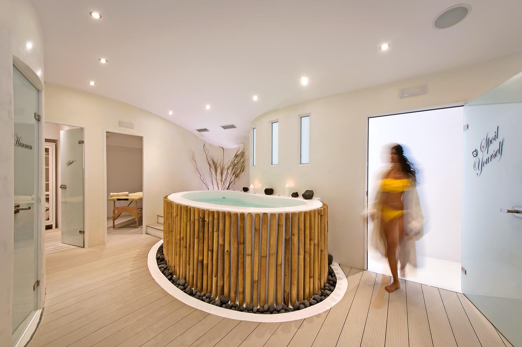 The spa of Ira Hotel & Spa in Firostefani, Santorini