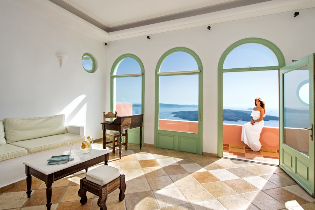 The Lounge of Ira Hotel & Spa in Santorini!