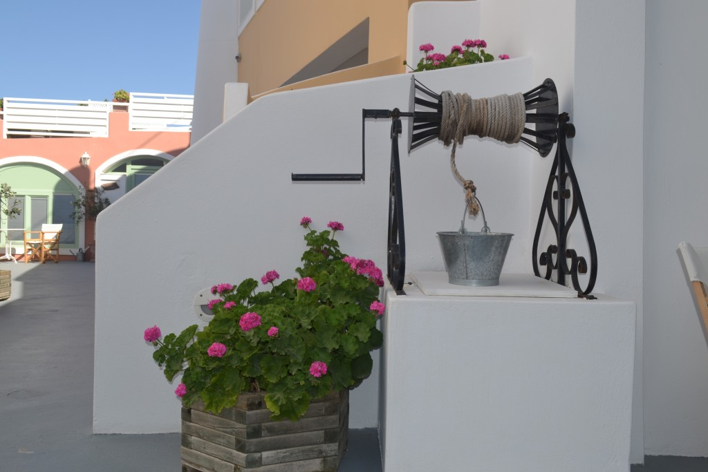 A traditional corner in Ira Hotel in Santorini!