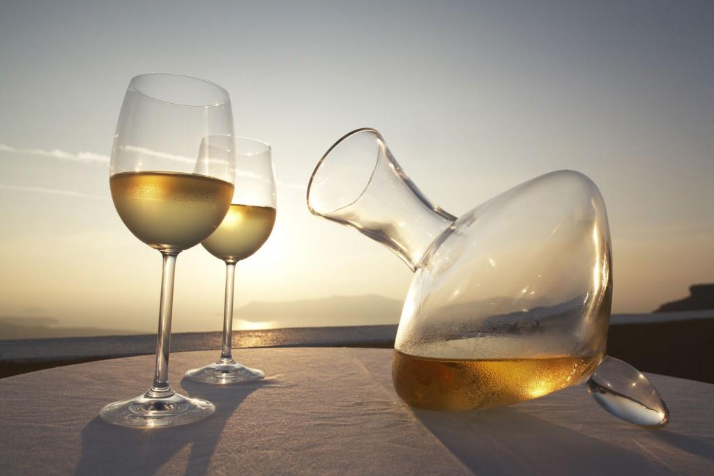 The famous assyrtico wine of Santorini!