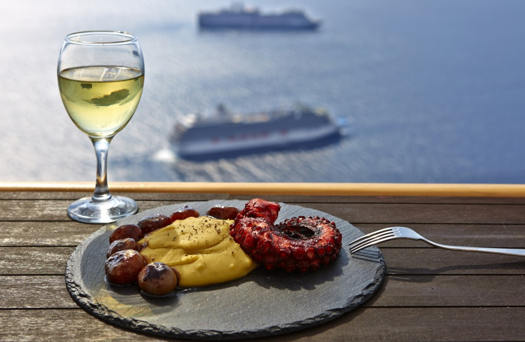 Fava with octopus! A must try at Ira Hotel & Spa restaurant in Santorini!