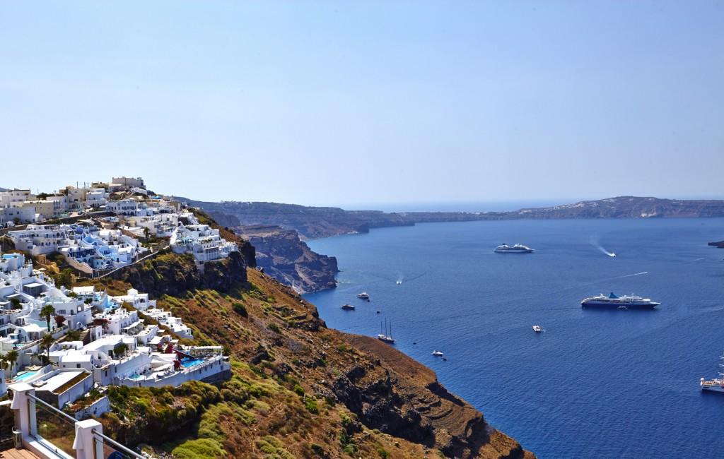 The caldera of Santorini at Spring time!