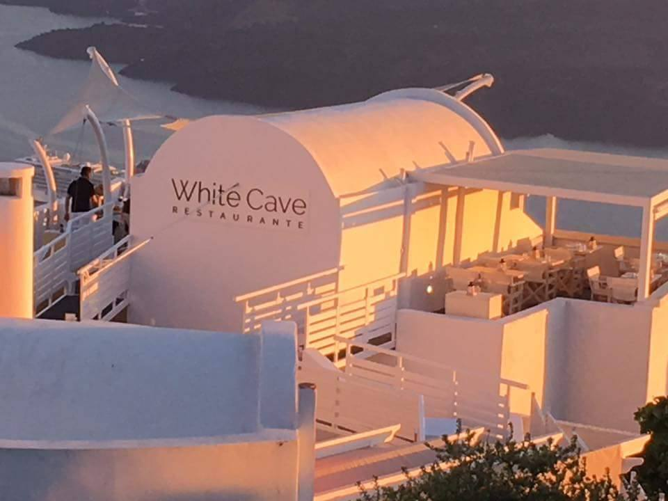 The White Cave Restaurant of Ira Hotel & Spa in Firostefani, Santorini
